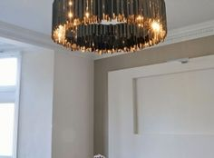 Tiered Facet Chandelier | Contemporary Lighting Project