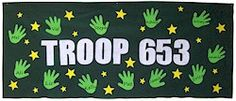 Junior Troop Banner    cute idea for parades and Girl Scout Day at the Capitol in Springfield