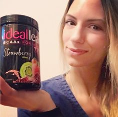 Okay fitness ladies! This one is for you!!  this is amazing!!! I have been using Ideal products for a while now but this is my favorite!!  So yummy! If you're looking for something to help recover your muscles faster, build lean muscle, and burn fat.. AND taste amazing... this is it!!  Strawberry Kiwi BCAAs!  I think I'm in love!  #sp