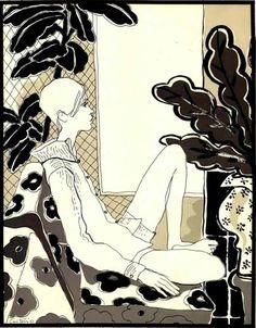 Twiggy by Antonio Lopez for The New York Times magazine, 1965