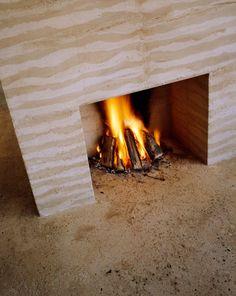 Rammed earth indoor fireplace; St Helena | Farm | Pinterest ...