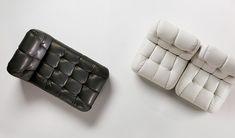 Восхитительный белый диван и чёрное кресло