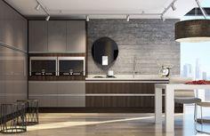 Resultado de imagem para cozinha planejada marrom