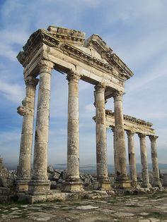 The Ruined Colonades of Apamea in Northwestern Syria. by Juian_K.