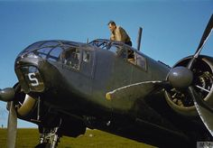 A pilot believed to be Flight Lieutenant A J H Finch, DFC, climbing into the cockpit of Bristol Beaufort MW-S' of 217 Squadron January 1942 (IWM) Air Force Aircraft, Ww2 Aircraft, Military Aircraft, Colorized Photos, Ww2 Photos, Ww2 Pictures, Bristol Beaufighter, Aircraft Photos, Vintage Airplanes