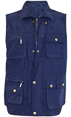 d8c85a62435 Mens Denim Body Warmer Waistcoat Safari Gilet Jacket Fishing Hunting Hiking  Generous Fit  Amazon.co.uk  Clothing