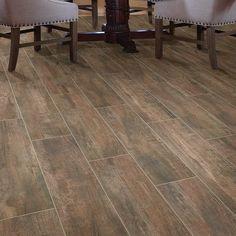 Ceramic Wood Tile Floor, Wood Look Tile Floor, Glazed Ceramic Tile, Wood Tile Floors, Wall And Floor Tiles, Kitchen Flooring, Wall Tiles, Kitchen Tile, Hardwood Floors