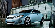 IS shown in Cerulean Blue Metallic with available 18-in five-spoke alloy wheels