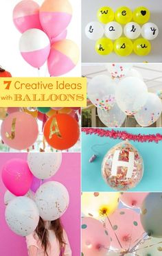 7 creative ideas with balloons (with links to each tutorial) via Celebrations at Home