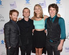 """Lou Taylor Pucci Actors Seth Green, Lou Taylor Pucci, Mackenzie Munro and Tyler Stentiford attend """"The Story Of Luke"""" premiere at Laemmle Mu..."""
