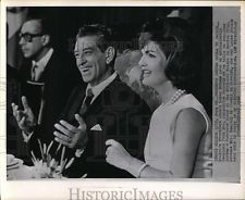 1962 Wire Photo Mexico Pres. Adolfo Lopez Mateos and Mrs. Jacqueline Kennedy