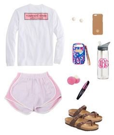 """I don't really care today but I'm still gonna look cute"" by emmastevens0n on Polyvore featuring Vineyard Vines, Eos, CamelBak, Brooks Brothers, Tory Burch, L'Oréal Paris and Birkenstock"