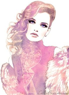 Portrait Illustrations by Esther Bayer I like how the eyes pop out so much in this illustration. Illustrations by Esther Bayer I like how the eyes pop out so much in this illustration.I like how the eyes pop out so much in this illustration. Portrait Illustration, Art And Illustration, Portraits Illustrés, Arte Fashion, Fashion Fashion, High Fashion, Fashion Models, Fashion Beauty, Fashion Trends