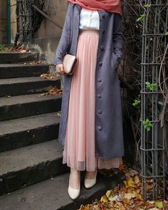 Style Hijab Casual Gendut 66 Ideas For 2019 Casual Style Hijab, Casual Hijab Outfit, Hijab Chic, Hijab Dress, Women's Casual, Dress Skirt, Modest Dresses, Modest Outfits, Skirt Outfits