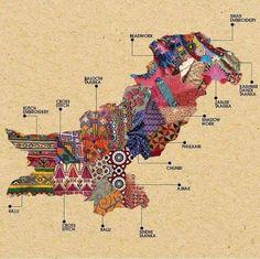 Types of Designs Popular in Each Region of Pakistan