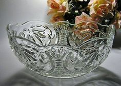 CROWN CRYSTAL oval salad bowl from the 66 series