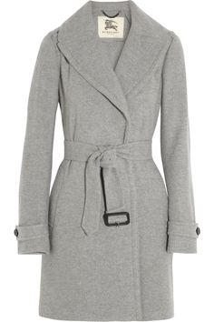 Burberry London|Cashmere trench coat Can you imagine how wonderful this coat would feel? I would never want to take it off.