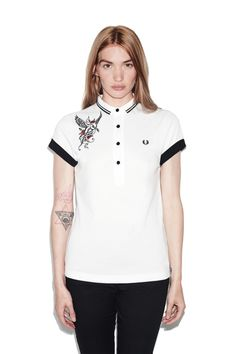 The brand founded by triple Wimbledon champion Fred Perry in 1952 and adopted by generations of British subcultures ever since. Fred Perry Amy Winehouse, Amy Winehouse Foundation, Pique Shirt, Spring Shirts, Summer 2016, Spring Summer, Hate, Jeans, Vintage Canvas