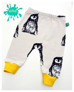 Penguin baby leggings, Baby clothes, baby leggings, organic baby clothes, unisex baby, baby trousers, baby pants