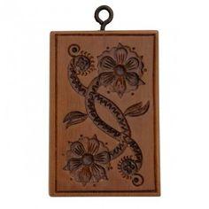 Gingerhaus® Springerle Gingerbread Baking Floral Scroll Springerle Mold