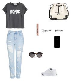 Untitled #143 by jaytranx on Polyvore featuring polyvore fashion style H&M Topshop Vans Balenciaga Illesteva Urban Decay clothing