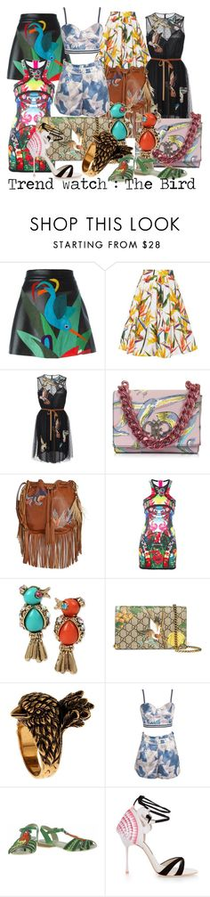 """""""TrendWatch - The Bird"""" by luxurycitizen on Polyvore featuring P.A.R.O.S.H., Karen Millen, RED Valentino, Emilio Pucci, Patricia Nash, Dsquared2, Betsey Johnson, Gucci, WithChic and Miss L-Fire"""