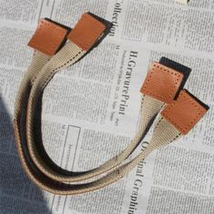 17 inches, 43.5cm canvas with leather,bag handles BH09, bag strap, 1 pair. $10.50, via Etsy.