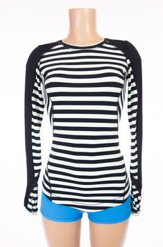 LULULEMON Run Reflect Long Sleeve 8 M Sea Stripe Mint Moment Black Night Run #Lululemon #ActivewearLongSleeve