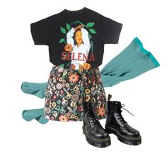 """Gets you back"" by headshapes ❤ liked on Polyvore featuring RED Valentino and Dr. Martens"