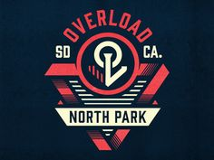 Overload Tee designed by raul sigala. the global community for designers and creative professionals. Badge Design, Tee Design, Label Design, Logo Design, Graphic Design, Typography Logo, Typography Design, Retro Logos, Vintage Logos