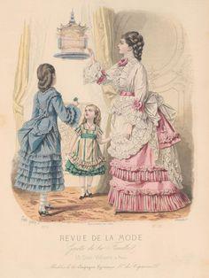 1872 Revue de la Mode : Gazette de la Famille