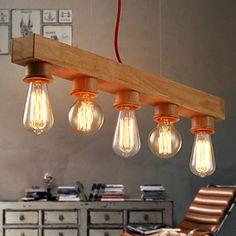60 Island Light , Contemporain Rustique Bois Fonctionnalité for Style Bougie Bois/BambouSalle de séjour Chambre à coucher Salle à manger de 3424594 2017 à €73.08