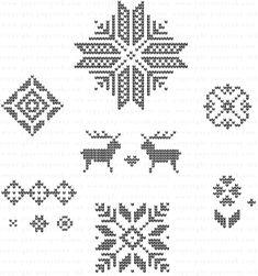 Fair Isle Motifs Stamp Set: Papertreyink