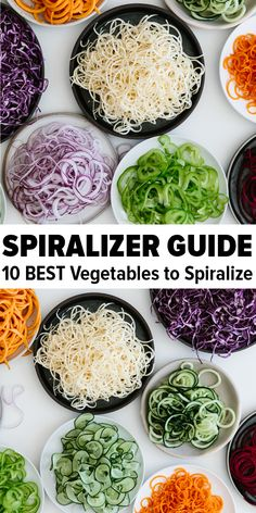 Healthy Recipes The spiralizer is one of my favorite kitchen tools. Today I'm sharing my favorite vegetables to spiralize along with veggie spiralizer tips and healthy spiralizer recipes. Learn how to spiralize - it's easy! Zoodle Recipes, Vegetarian Recipes, Healthy Recipes, Spiralizer Recipes Vegetarian, Spiralized Veggie Recipes, Cooked Vegetable Recipes, Spiral Vegetable Recipes, Best Spiralizer, Veggetti Recipes