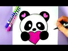 In this video, you will learn how to draw and color a cute love panda with love heart step by step :) Como dibujar un panda kawaii paso a paso If you want to. Kawaii Drawings, Cartoon Drawings, Easy Drawings, Cartoon Panda, Cute Cartoon, Draw Realistic, Youtube Paint, Vintage Cartoons, Chibi Kawaii