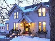 This house even looks cozy from the outside. #hgtvmagazine http://www.hgtv.com/decorating-basics/creating-a-cozy-house/pictures/page-2.html?soc=pinterest