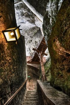 Predjama castle (Silovenia) Hope this is the dungeon because if it isn't, I'd really hate to see that place.