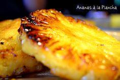Recette de l'ananas bio caramélisé à la plancha sur le blog de ©Kaderick en Kuizinn
