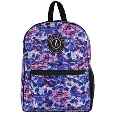Festival Fever is an irresistible tie-dye print, available as a pretty backpack. Ready to carry all your kit including towel, trainers and clothes, it can also be used as a work bag, school bag or travel bag - it's the ideal size for airline hand luggage.  Spacious and strong, this durable bag is splash-proof and ready for action. The blue, indigo and pink pattern extends to the adjustable double straps for hands-free convenience. Pretty Backpacks, Gym Bags, Hand Luggage, Pink Patterns, Vera Bradley Backpack, School Bags, Travel Bag, Indigo, Trainers