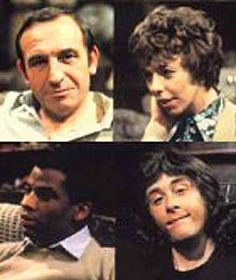 'Rising Damp' - starred Leonard Rossiter as Rupert Rigsby, Frances dé la Tour as Miss Ruth Jones, Don Warrington as Philip Smith, and Richard Beckinsale as Alan Guy Moore. Tv Actors, Actors & Actresses, Richard Beckinsale, Leonard Rossiter, Rising Damp, Uk Tv Shows, Episode Guide, British Comedy, Comedy Tv