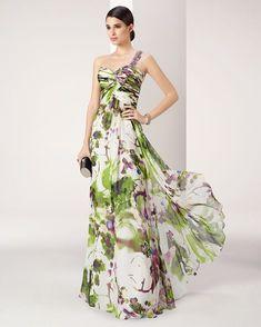 Vestido de Fiesta de Marfil Barcelona - 8J282 806 Modest Dresses, Simple Dresses, Elegant Dresses, Casual Dresses For Women, Pretty Dresses, Bridesmaid Dresses, Vestido Maxi Floral, Prom Dress Couture, Wedding Outfits For Women