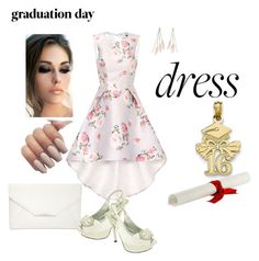 """""""Graduation dress slingbacks"""" by puddycatshoes ❤ liked on Polyvore featuring Chi Chi, Charlotte Russe, Style & Co., Qupid and graduationdaydress"""