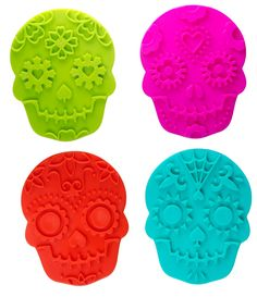 Sweet Spirits - Day of the Dead Cookie Cutter/Stamps 4 Sugar Skull stamp cutters per set -  Got these as a gift from my Hubby can't wait to make cookies with my Girls :)