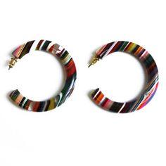 Pop Art Hoop Earrings  fun for summer?? by Sabral... resin, $33