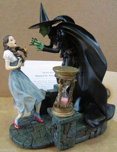 Franklin Mint Wizard Of Oz Dorothy's Final Hour Wicked Witch Figurine Hourglass