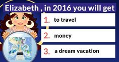 What 3 things will happen to you in 2016?