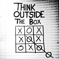 Pensando fora da caixa e saindo do lugar comum - @mfwebmarketing