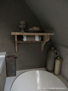 sfeer in landelijke stijl badkamer