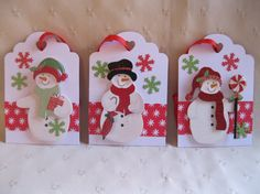 These five cute snowman tags are great for any Christmas Gift. They will look nice under your Christmas Tree or give them to teachers, friends,