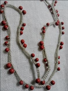 crochet beads  lariat necklace